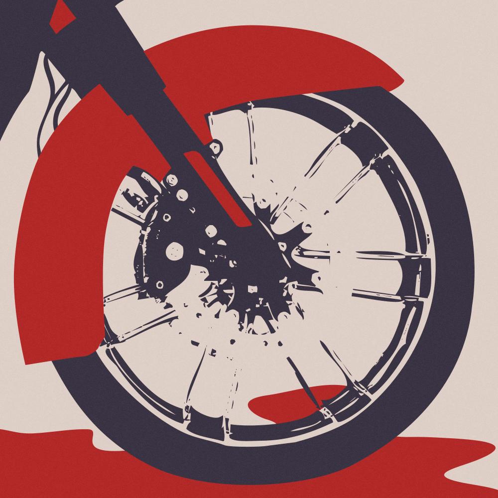 illustrazione racconto teste calde motocicletta
