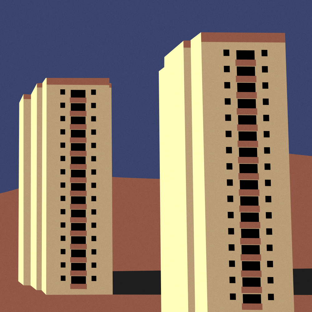 illustrazione Duplex - Roz Catone - SPLIT - Pidgin Edizioni
